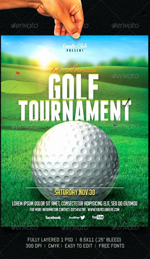 Free Golf tournament Template Word Gift Certificate Design