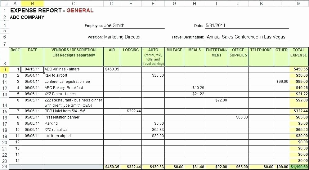Free Google Business Templates Monthly Expense Report