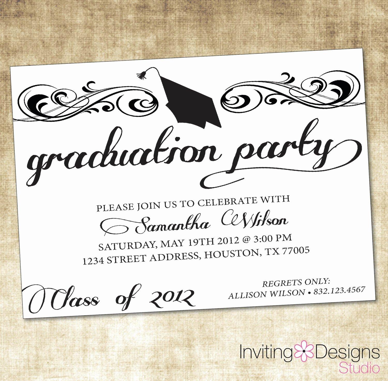 Free Graduation Invitation Templates Free Graduation