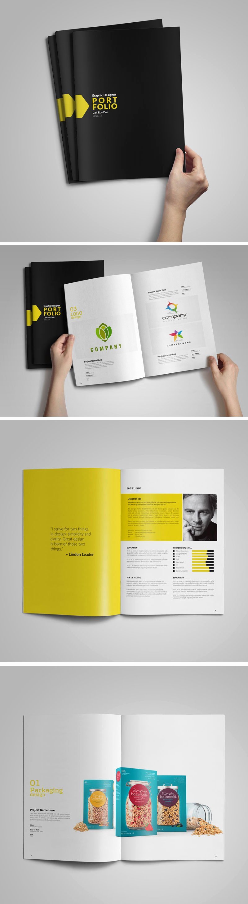 Free Graphic Designer Portfolio Template