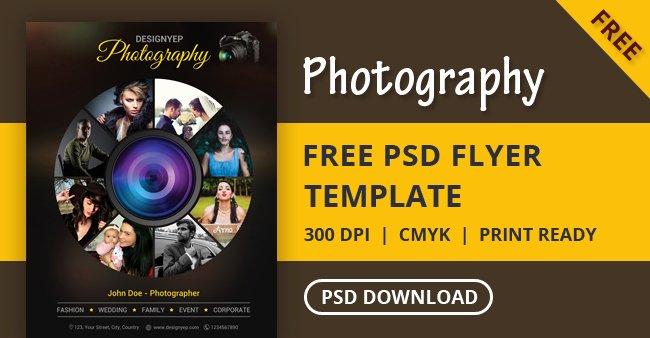 Free Graphy Flyer Psd Template Designyep