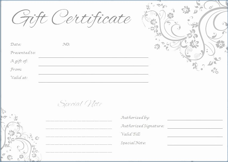 Free Graphy Gift Certificate Template Word