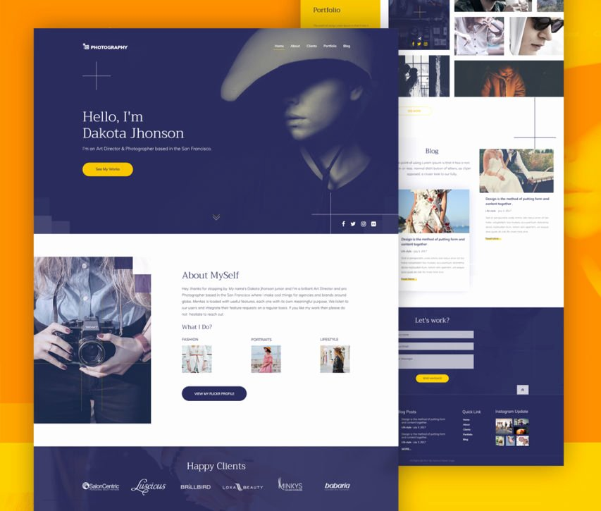 Free Graphy Website Template Free Psd at Freepsd