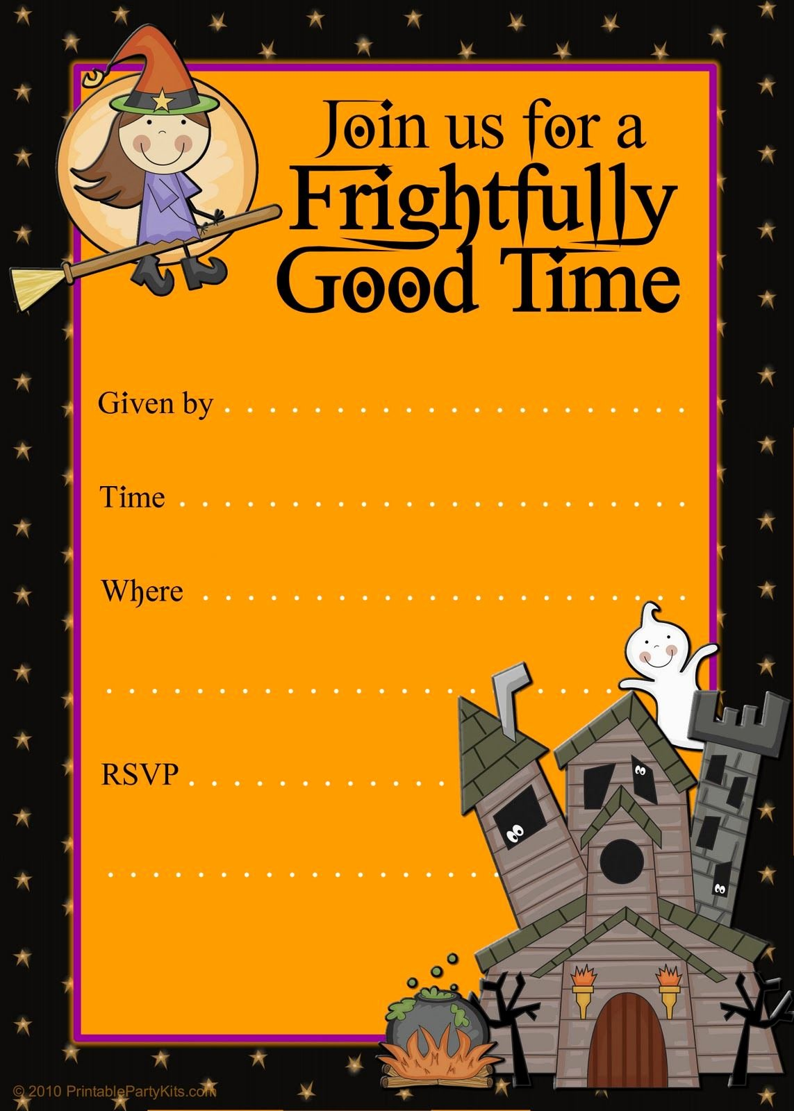 Free Halloween Flyer Invitations Printable