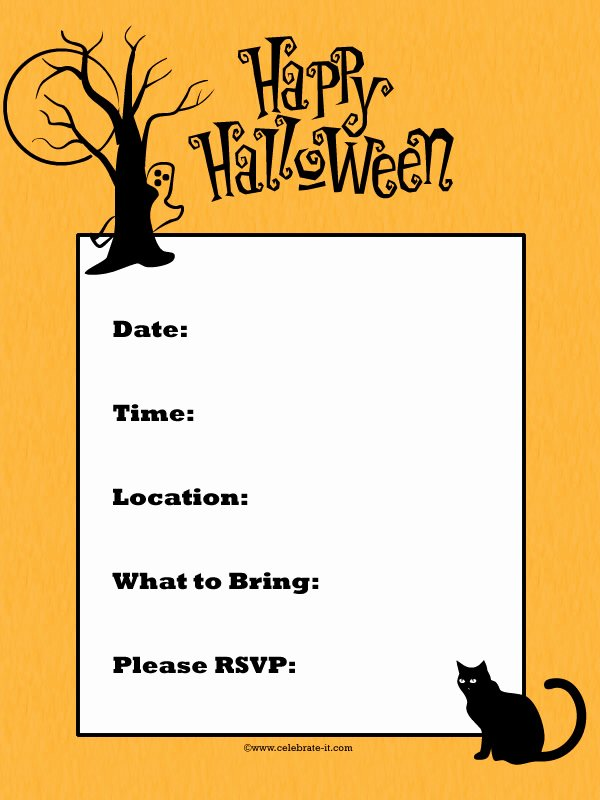 Free Halloween Party Invitation Printables for Kids