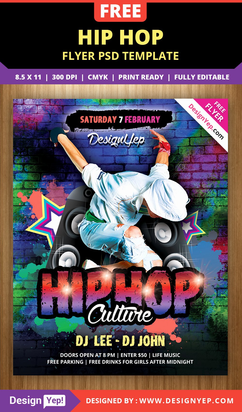 Free Hip Hop Flyer Psd Template Designyep