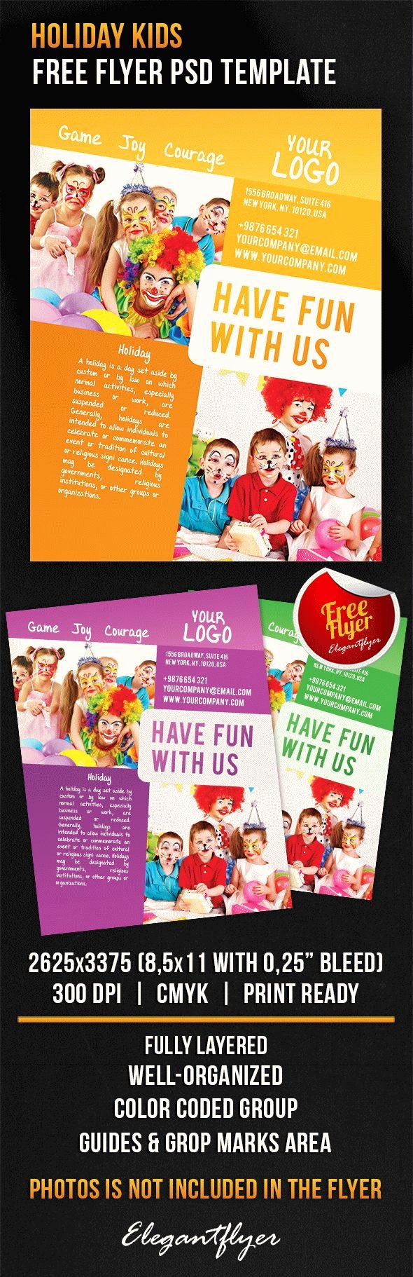 Free Holiday Kids – Free Flyer Psd Template Shop