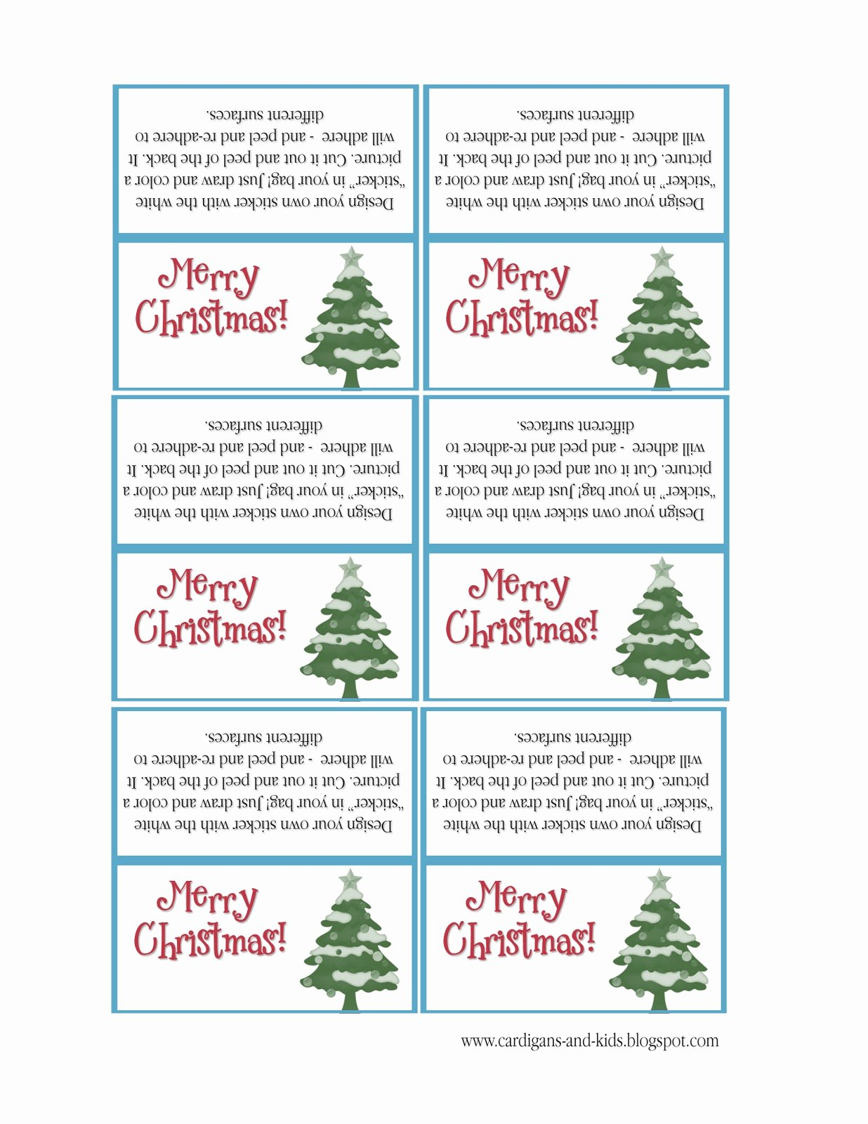 Free Holiday Return Address Template