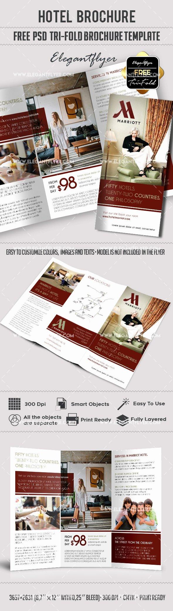 Free Hotel – Free Psd Tri Fold Psd Brochure Template Flyer