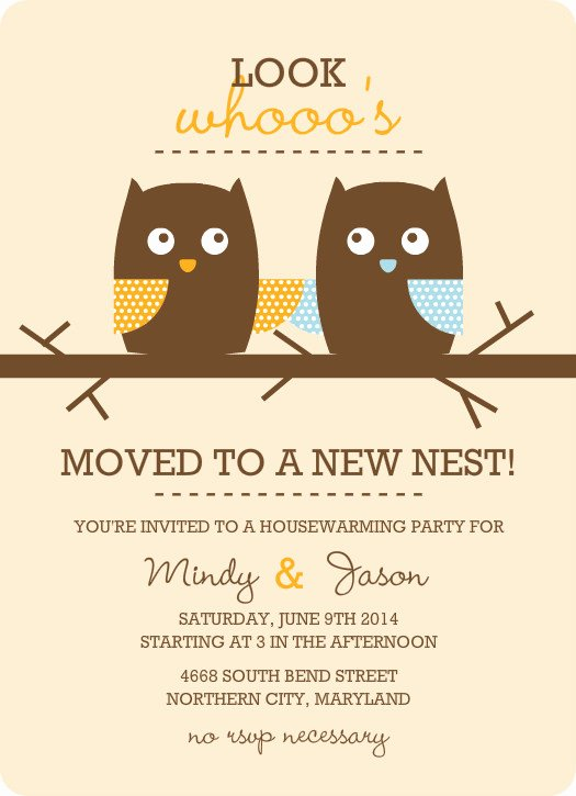 Free Housewarming Invitations Template