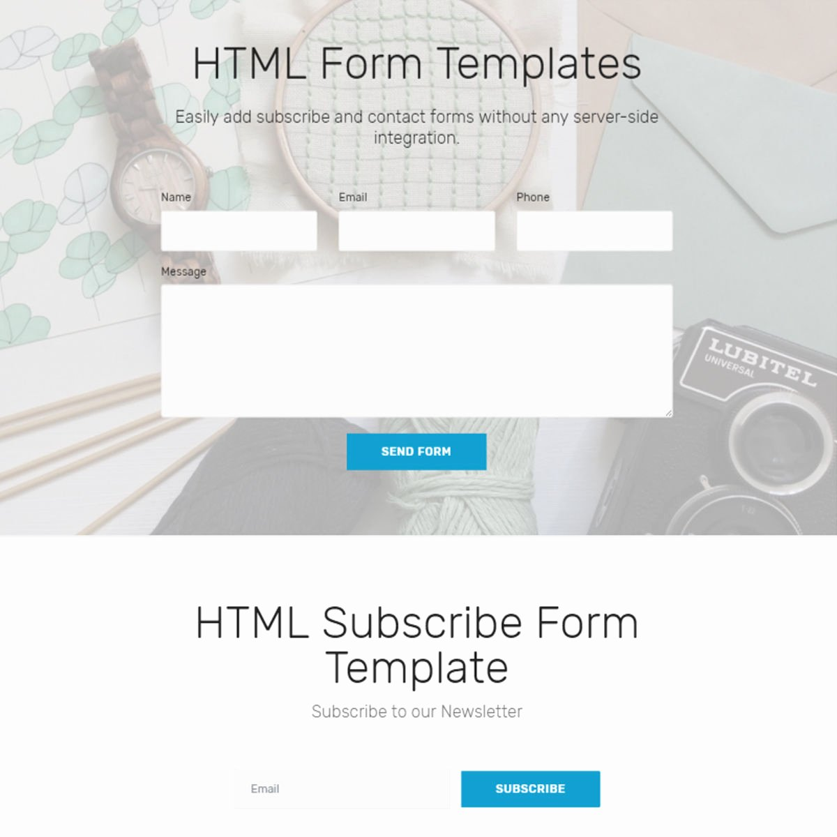 Free HTML Bootstrap 4 form Templates