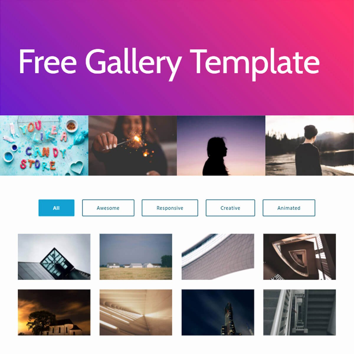 Free HTML Bootstrap Gallery Template