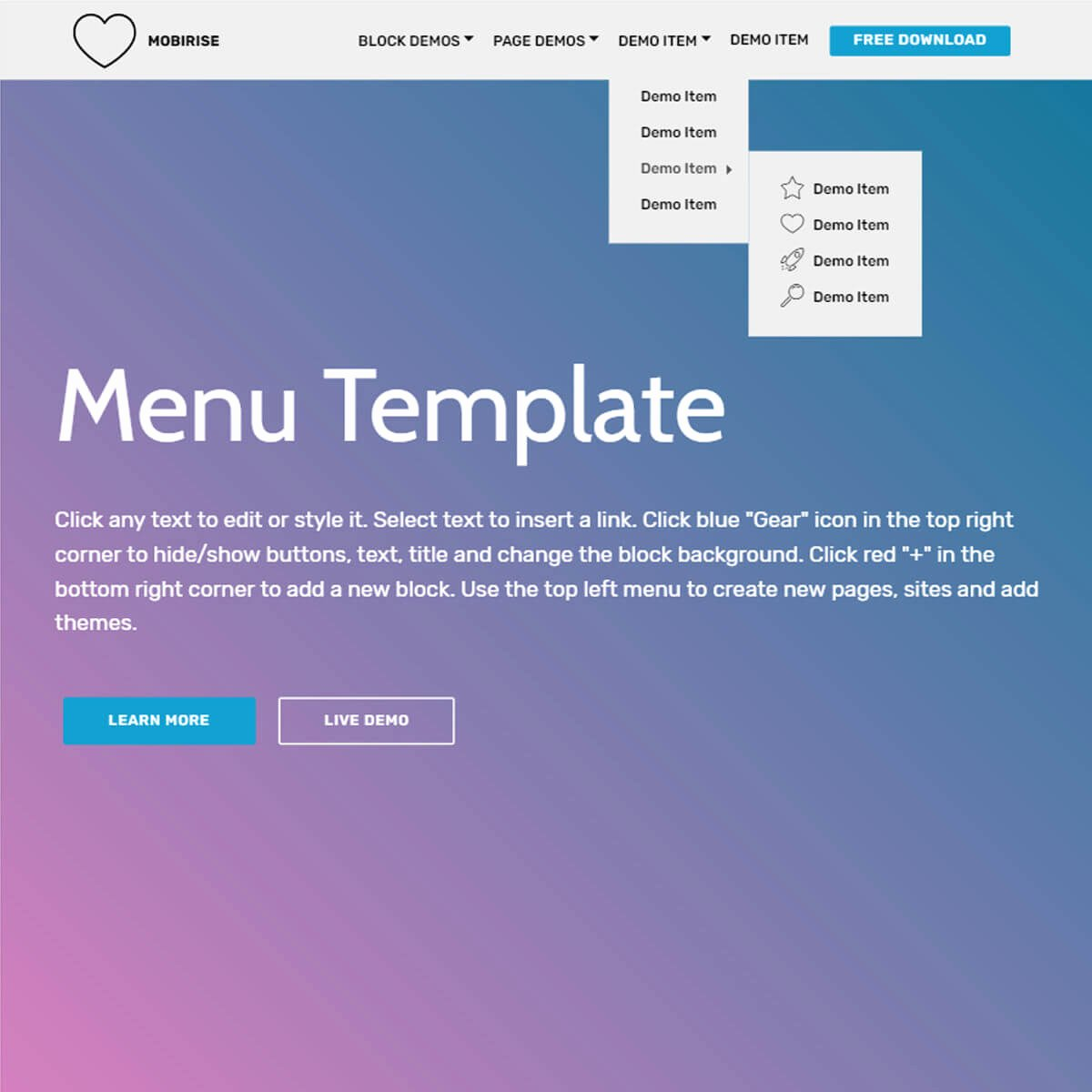 Free HTML Bootstrap Parallax Scrolling Template