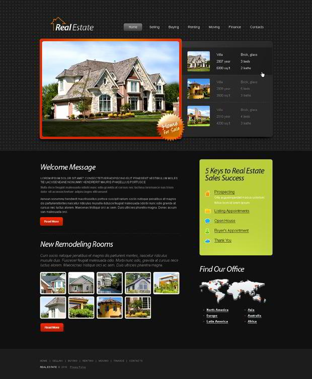 Free HTML5 Template for Real Estate Website Monsterpost