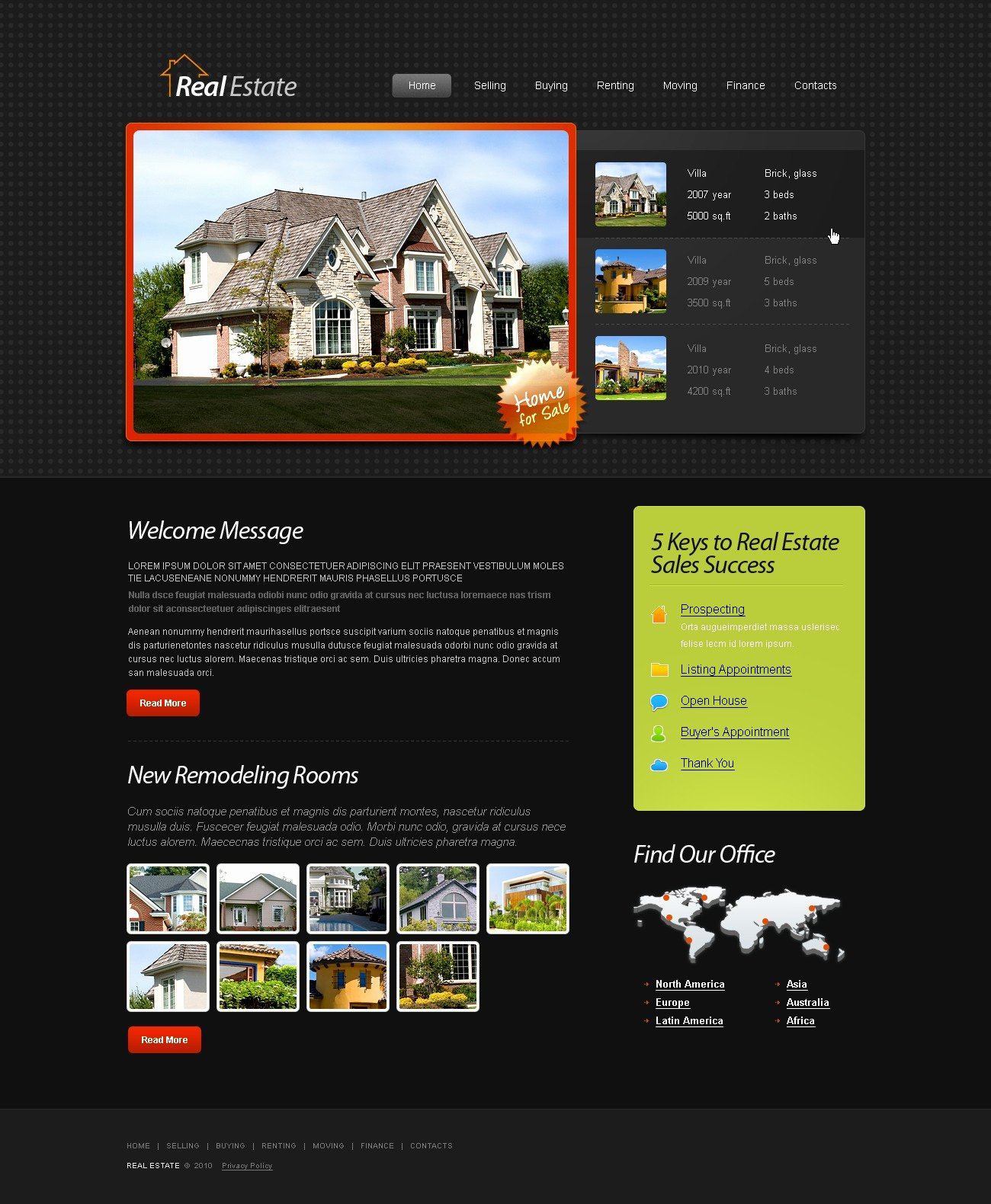 Free HTML5 Template Real Estate Website