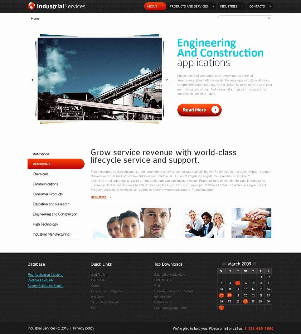 5 industrial website template