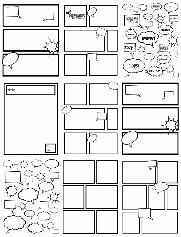 Free Ic Strip Templates Great for Kids to Color Cut