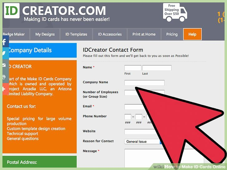 Free Id Card Maker Template Templates Station