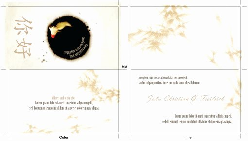 Free Illustrator Templates oriental theme Folded Business