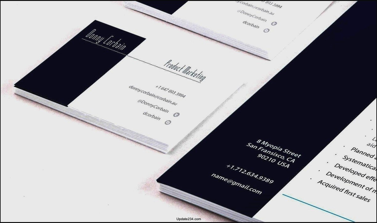 Free Indesign Business Card Template Template Update234