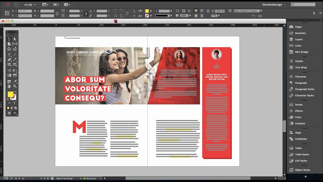 Free Indesign Fashion Magazine Template