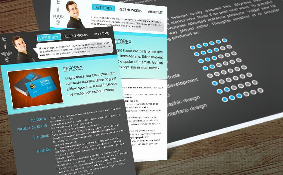 Free Indesign Portfolio Template with 2 Color themes