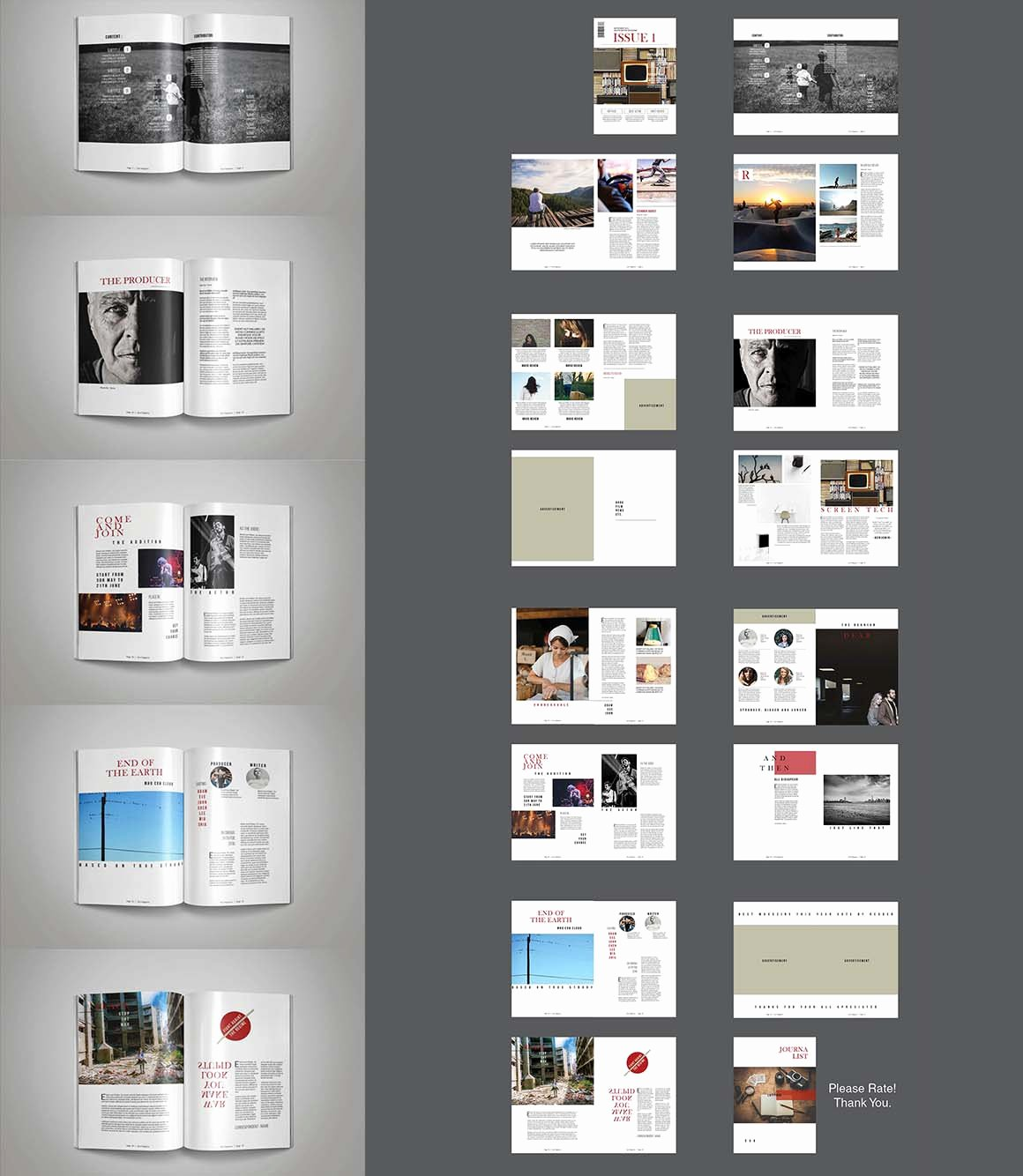 Free Indesign Template • Multipurpose Magazine