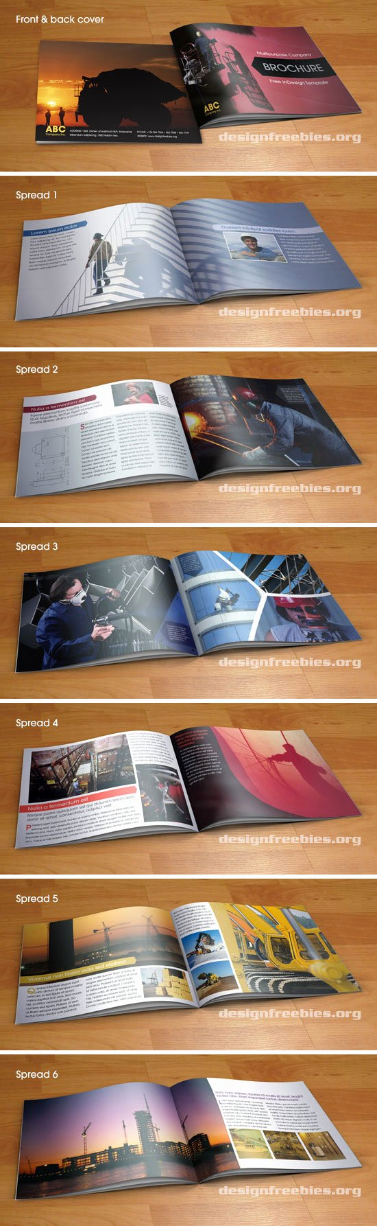 Free Indesign Template Multipurpose A5 Booklet Type
