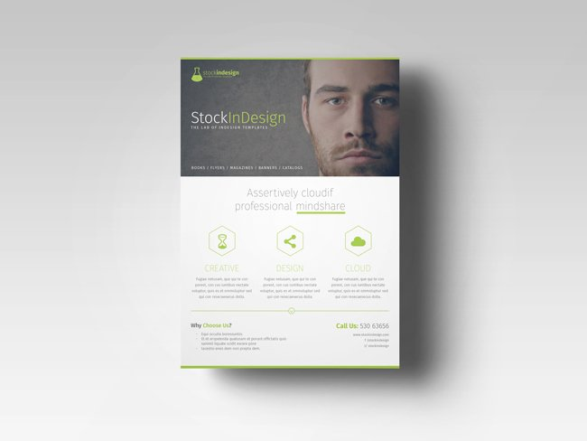 Free Indesign Template Of the Month Corporate Flyer