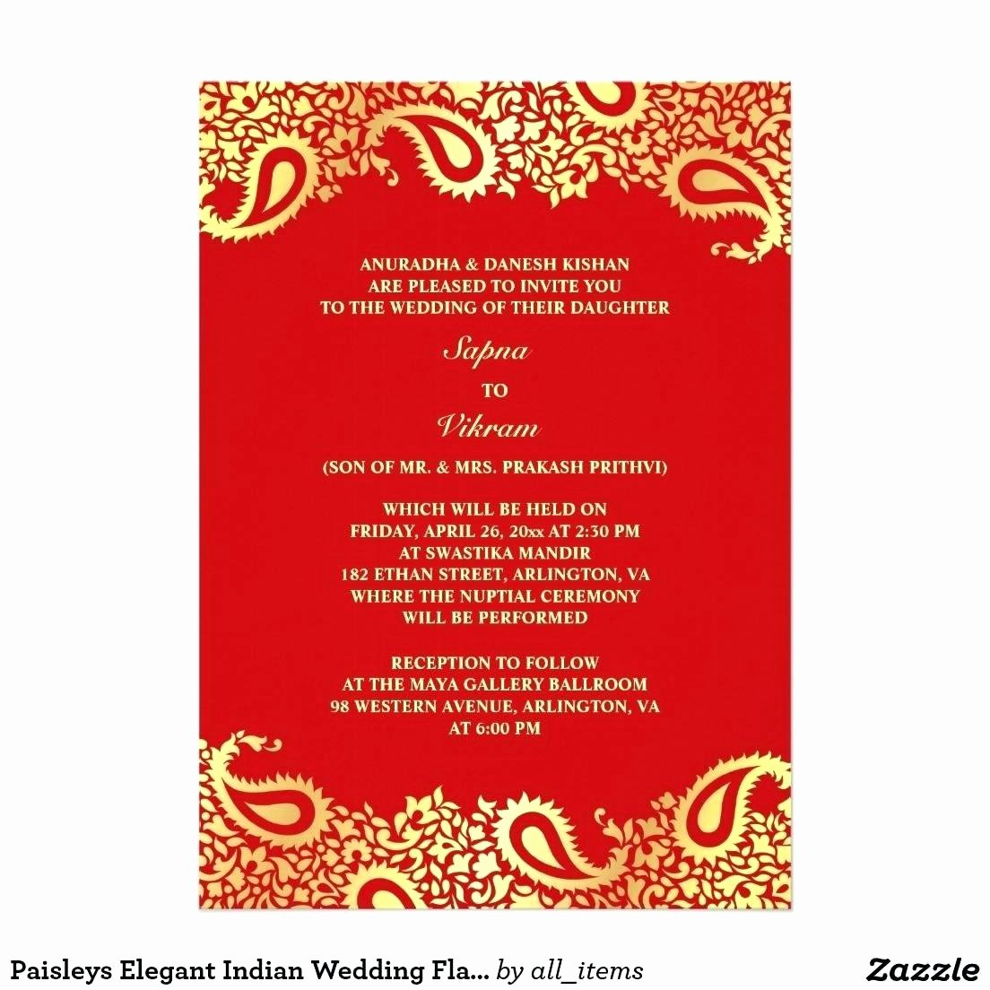 Free Indian Wedding Invitation Email Template Jin's