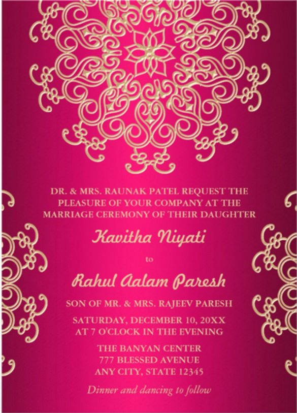 Free Indian Wedding Invitation Templates Yourweek