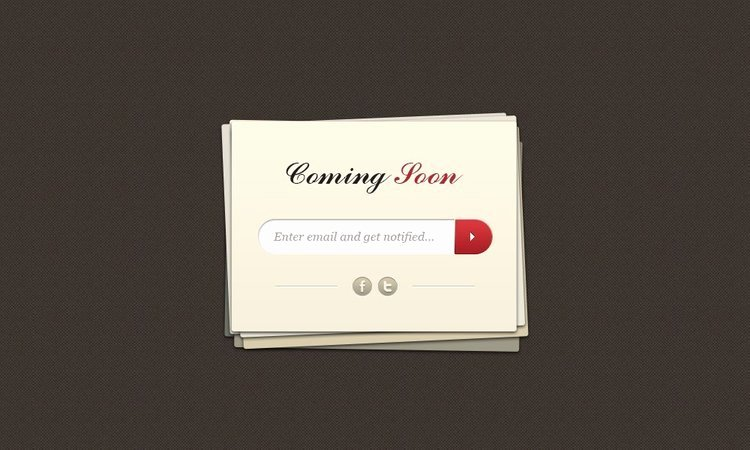 Free Ing soon Page Psd Template Vector 365psd