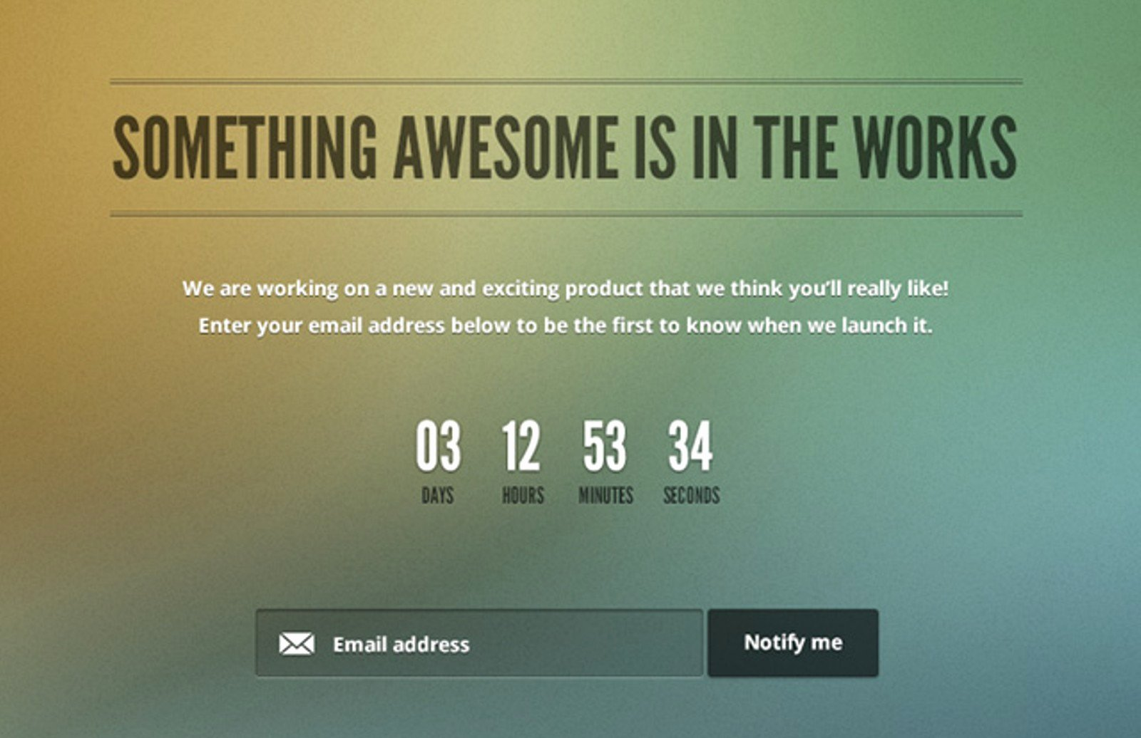 Free Ing soon Page Template — Medialoot