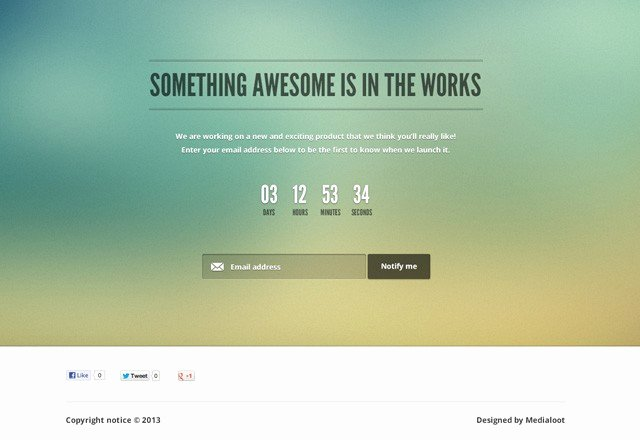 Free Ing soon Page Template