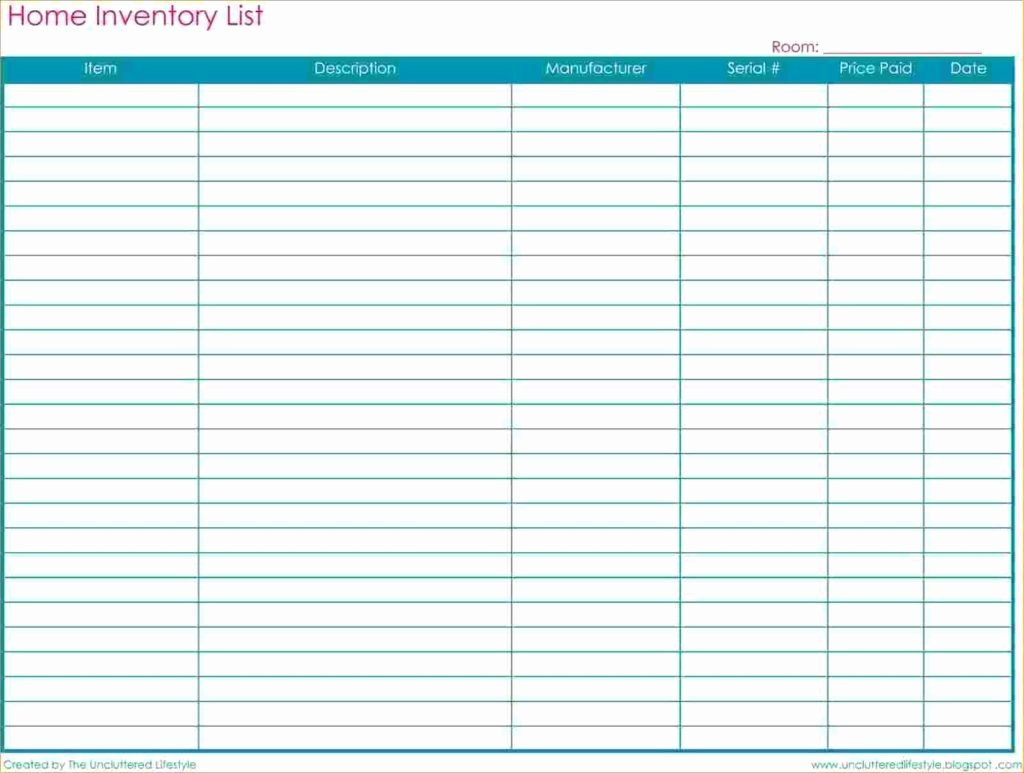Free Inventory Spreadsheet Template Spreadsheet Templates