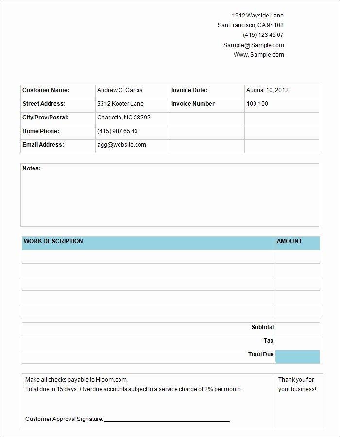 Free Invoice Template Invoice Templates
