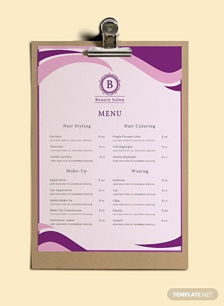 Free Italian Menu Template In Adobe Shop Microsoft