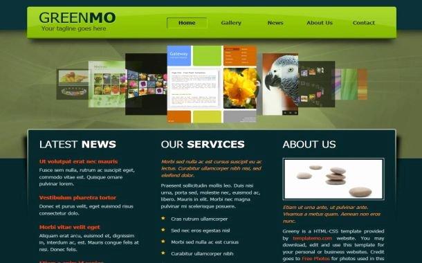 Free Jquery Black Green Business Website Template