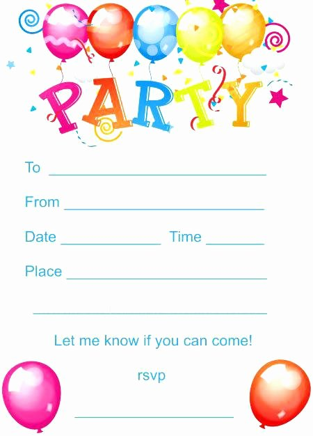 Free Kids Birthday Invitations Kids Party Invites Free