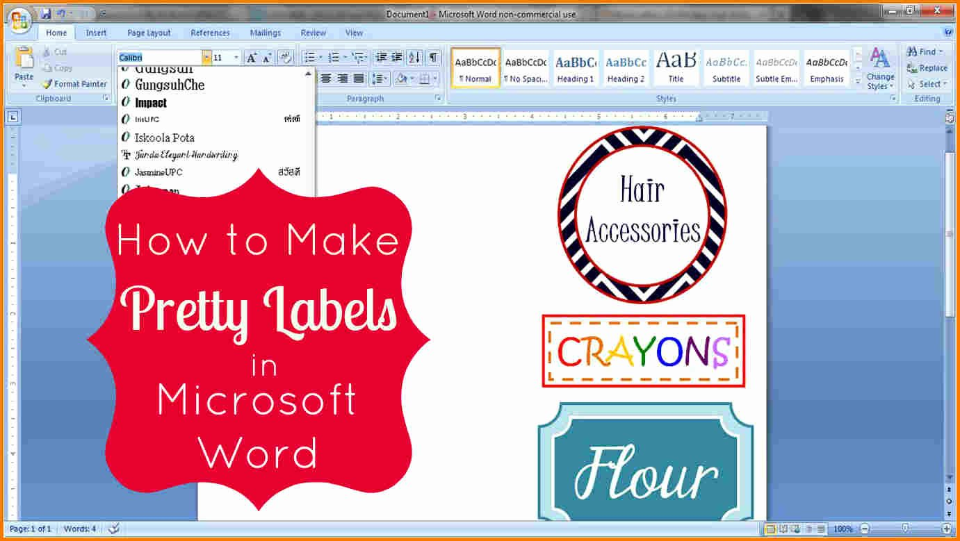 Free Label Templates for Word