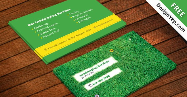 Free Landscaping Business Card Template Psd Designyep