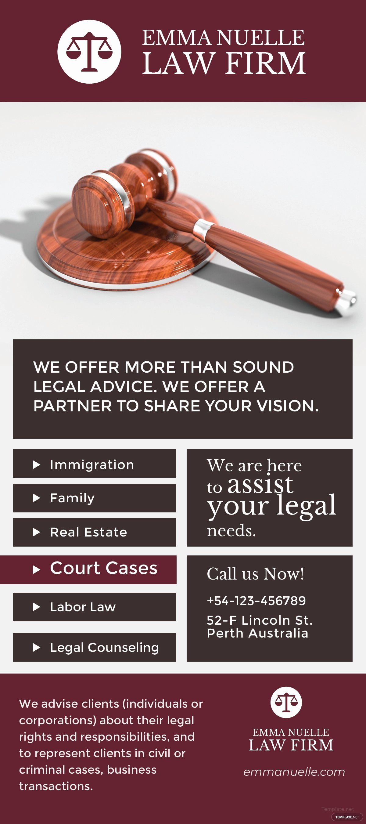 Free Law Firm Rack Card Template In Adobe Shop Adobe