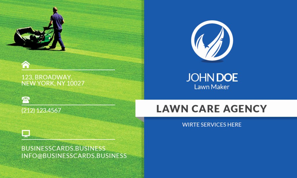Free Lawn Care Business Card Template for Shop