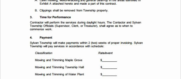 Free Lawn Care Proposal Template