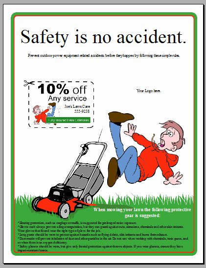 Free Lawn Mower Safety Flyer