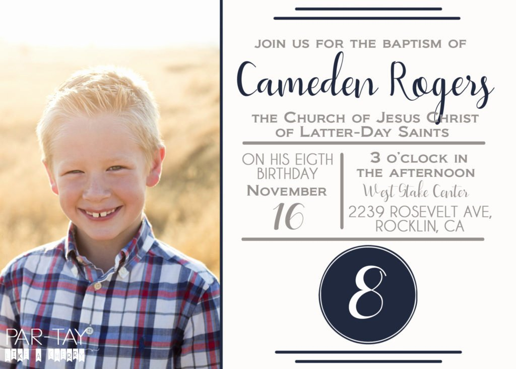 Free Lds Baptism Announcement Template Party Like A Cherry