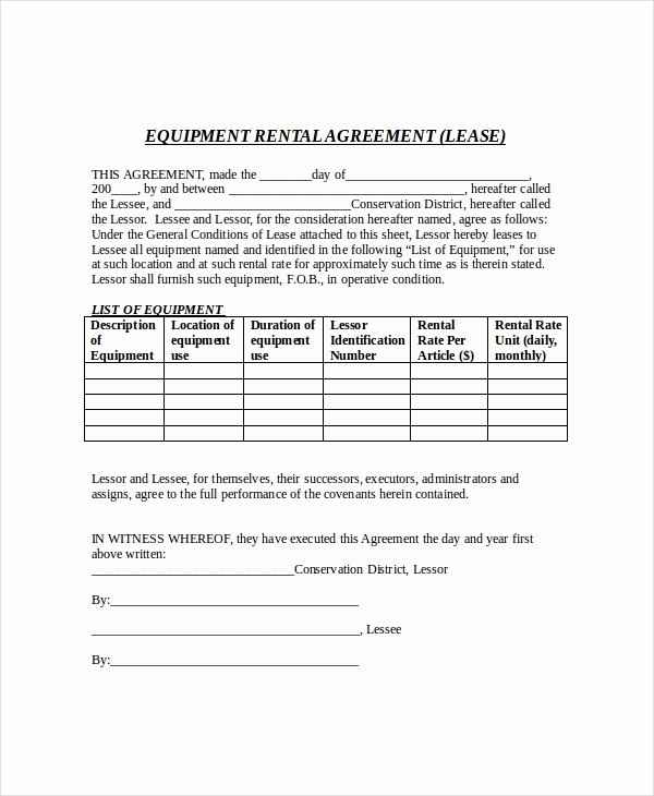 Free Lease Agreement Free Pdf Word Documents Download