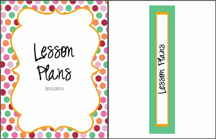 Free Lesson Plan Binder Cover & Spine Label From