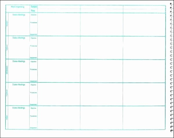 Free Lesson Plan Book Template Lesson Plan Book Template