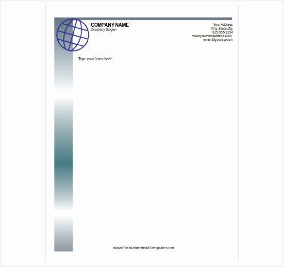 Free Letterhead Template – 14 Free Word Pdf format
